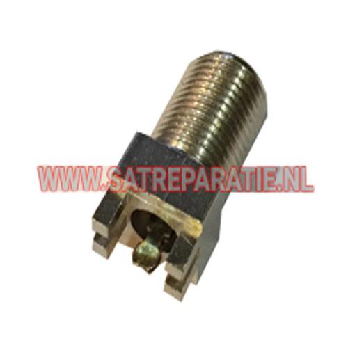 PCB mount vrouwelijke F-connector, zakje van 10 stuks