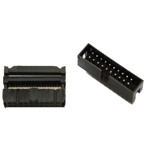 IDC connector voor flat cable 20 pins
