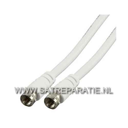 F connector kabel budget 1,5 meter wit