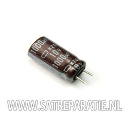 220uF 25V 8X12,5mm, zakje van 10 stuks