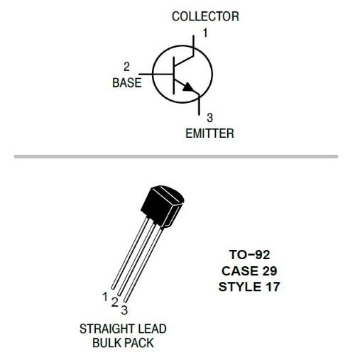 BC550C NPN Silicon, Low Noise Transistors