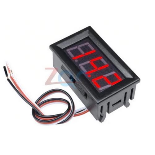 Inbouw voltmeter 0V tot 30V / Rood LED / eenvoudig aan te sluiten