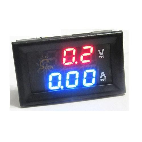 LED Digitale Voltmeter Amperemeter DC 0-100V, 0-10A, eenvoudig aan te sluiten