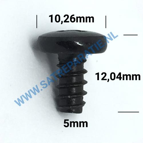 5mm zwart schroeven, zakje van 10 stuks