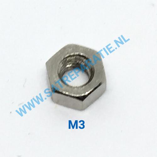 M3 zilver moertjes, zakje van 10 stuks