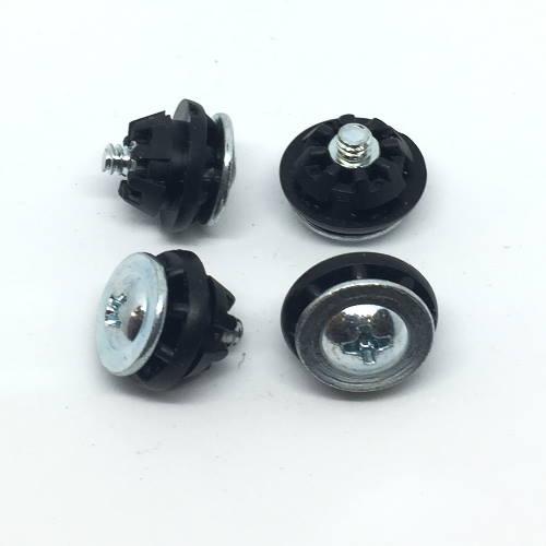 Harddisk schroeven met rubber type 3, zakje van 4 stuks