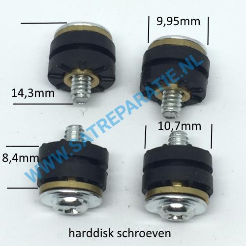 Harddisk schroeven met rubber zakje van 4 stuks