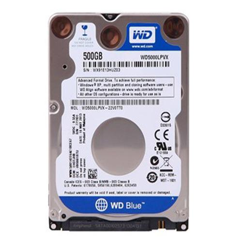 Gebruikte WD 500GB 2.5 inch SATA